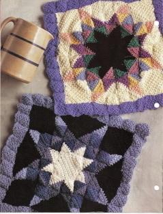 Annies Crochet Quilt Afghan Club Eight-Pointed Star Afghan Crochet Pattern