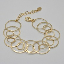 Silver Bracelet 925 Foil Gold Circles Worked by Maria Ielpo Made in Italy - image 2