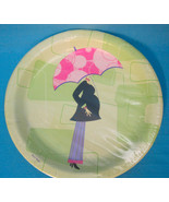 MOD MOMMA Baby Shower Party Dinner Plates Pinks Greens - $9.95