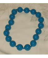 Aqua Blue Beaded Choker Necklace - $8.99