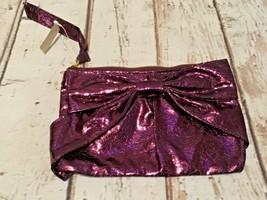Bath & Body Works clutch  Zippered Makeup Cosmetic Bag purple NEW  - $6.79