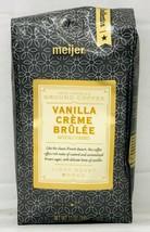 Meijer Vanilla Creme Brulee Ground Coffee 12 oz - $9.40