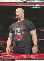 Stone Cold Steve Austin 2019 Topps WWE Road To Wrestlemania Card #21 - $0.99