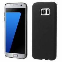Matte Soft TPU Phone Cover for Samsung Galaxy S7 Edge G935 - Black - $1.50