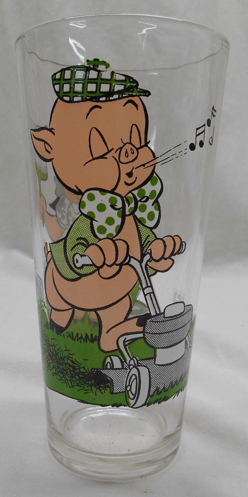 Petunia Porky Pig Pepsi Glass 1976 Warner Bros Looney Tunes