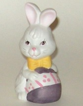 Hand Painted Ceramic Porcelain Bisque Easter Rabbit Bunny Egg Bell - $5.00