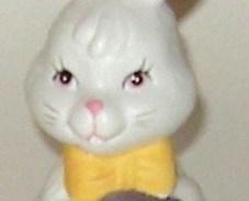 Hand Painted Ceramic Porcelain Bisque Easter Rabbit Bunny Egg Bell