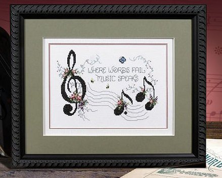 Music Speaks L164 cross stitch chart Stoney Creek