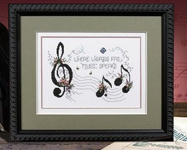 Music Speaks L164 cross stitch chart Stoney Creek image 1