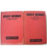 Penny Nichols 2 LOT Nancy Drew author Finds a Clue & Mystery of the Lost... - $7.50