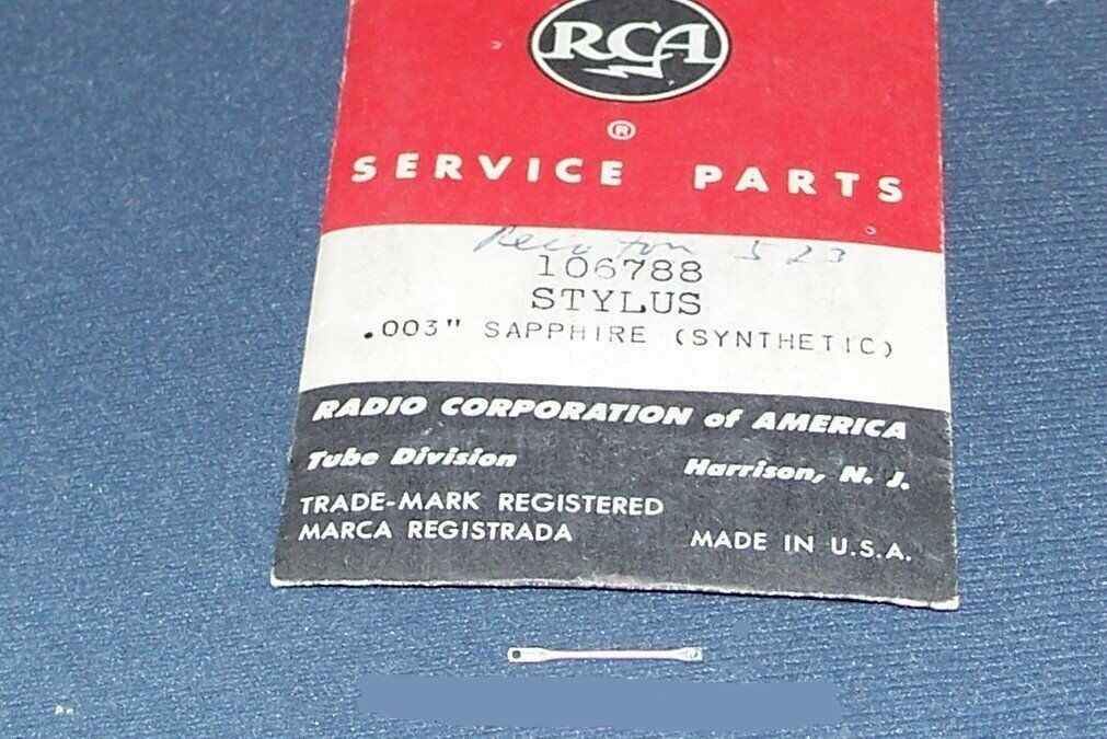 PHONOGRAPH NEEDLE RCA 106788 for 106786 106787 106788 RCA 200-1 -2 CARTRIDGE