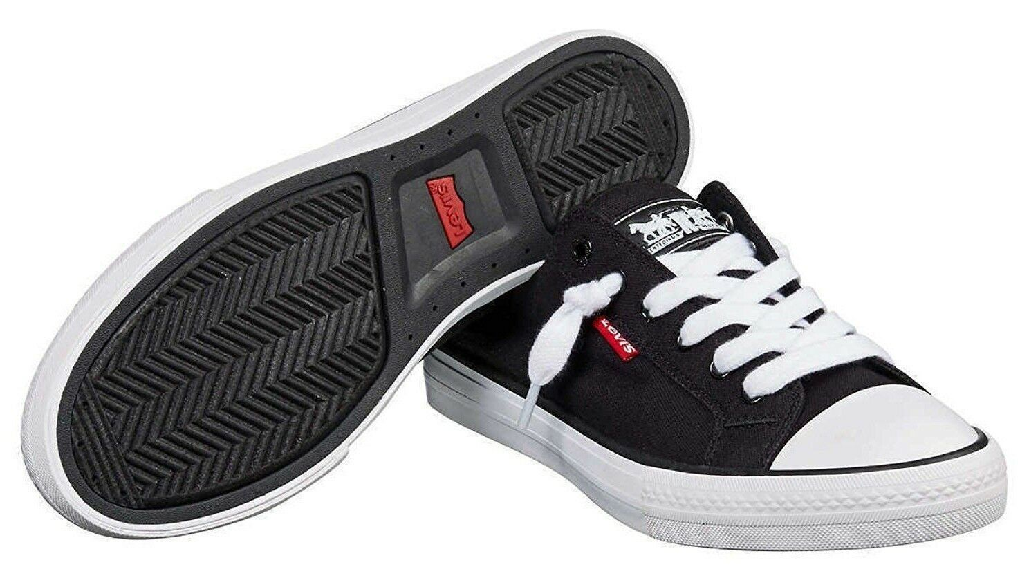NEW Levi's Black Denim Girls Stan G Canvas Sneakers Gym Shoes New in Box 1091100