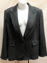 Tahari 16 Jacket Gray Single Button Blazer Career - $23.49