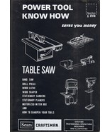 Sears Craftsman Power Tool Know How: Table Saw- Band Saw, Dr - $9.99