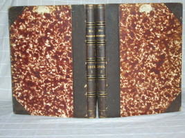 "1869 [The Gazebo] Illustrated 2 volume Die Gartenlaube Folio 12""+ tall - $137.49"