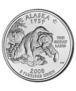 B/U 2008 ALASKA STATE QUARTER SET P&D - $2.00