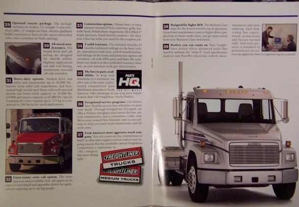 1994 Freightliner FL Series Business Class Tractors and Trucks Color Brochure