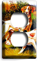HUNTING HOUND DOGS OUTLET WALL PLATE COVER ROOM HUNTERS LOG CABIN MAN CA... - $8.99
