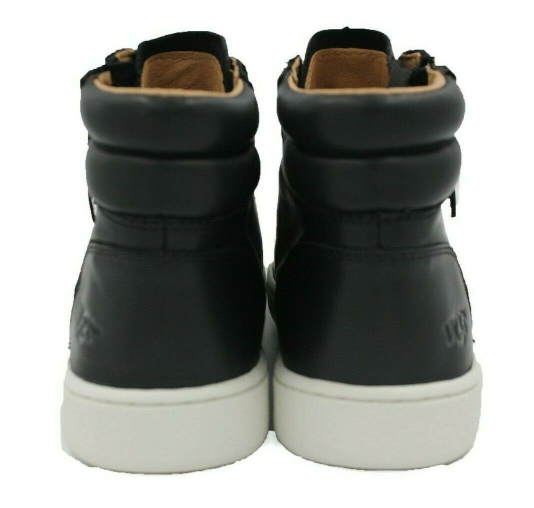 UGG AUSTRALIA Olive Women's Leather Sneaker - Black - Size 5.5 - NEW Authentic