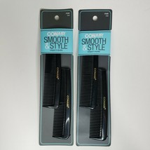 Conair Smooth & Style 2 pc Hard Rubber Pocket Combs Lot of 2 #93500Z - $9.99
