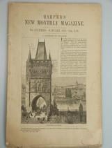 1878 Czechoslovakia PRAGUE HISTORY - illustrations Harper's Monthly Janu... - $19.99