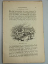 1878 HISTORIC WALES CASTLES and CATHEDRALS illu... - $19.99