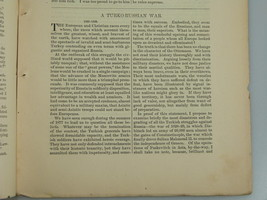 1878 TURKO-RUSSIAN WAR Russo-Turkish Ottoman Empire Harper's Monthly Jan... - $19.99