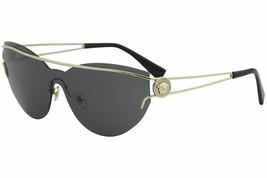 Versace Womens Sunglasses VE2186 1252/87 Pale Gold Frame W/ Grey Gradien... - $102.36