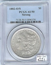 1882-O/S Morgan Dollar PCGS-50 VAM-3A Late Die State, With VAMSeal Label... - $534.59