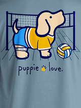 Puppie Love Rescue Dog Adult Unisex Short Sleeve Cotton Tee,Volleyball Pup image 2
