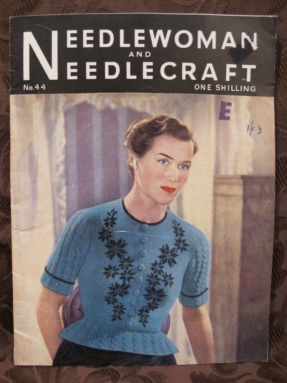 Vintage Needlewoman and Needlecraft Patterns Embroidery Crochet Knitting