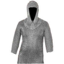 "17 "" x 31 "" Silver Medieval Chain Mail Armor Set Armor Chainmail Shirt w... - $133.49"