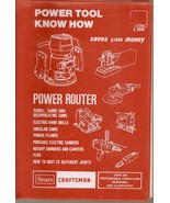 Power Tool Know How Saves You Money    Sears Craftsman ( - $6.99