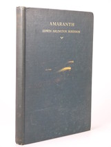 1934 Edwin Arlington Robinson AMARANTH 1st edition poetry - $44.99