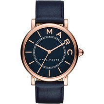 Marc Jacobs MJ1534 Roxy Navy Blue Dial Ladies Leather Watch - $158.49