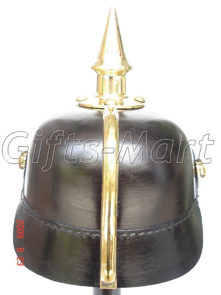 3 X Prussian HELMET, PICKELHAUBE LEATHER, WWI, WWII Armor Costume Uniform Hats