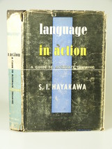1941 Hayakawa LANGUAGE in ACTION Guide to Accurate Thinking HBDJ - $43.99
