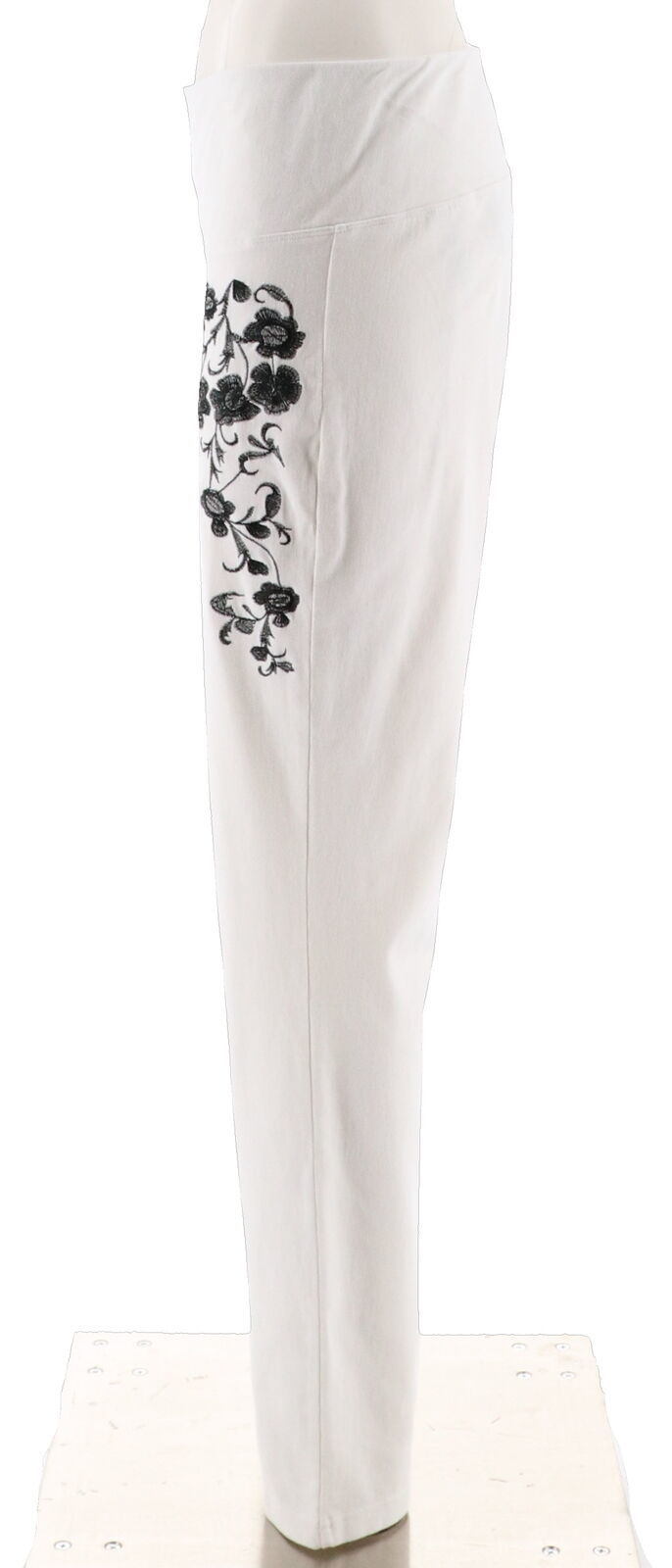 Women with Control Prime Stretch Denim Novelty Jeans White S NEW A301364