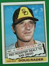 Doug Rader, Padres, 1976 #44T Topps Baseball Card, VG COND - $0.99