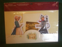 American Girls Collection Hallmark KIRSTEN Deluxe Figural Notecard Set R... - $15.00
