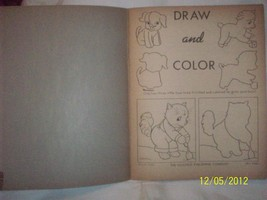 Antique Vintage 1940's SAALFIELD Unused Draw Coloring Book Great Graphic Cover  image 2