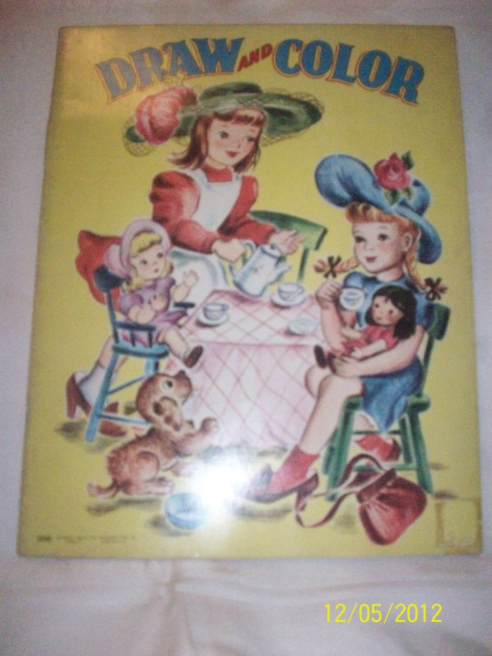 Antique Vintage 1940's SAALFIELD Unused Draw Coloring Book Great Graphic Cover  image 4