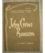 1962 John Crowe Ransom - Pamphlets on American ... - $19.99