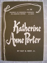1963 Katherine Anne Porter - Pamphlets on American Writers #28 Lit Criti... - $19.99