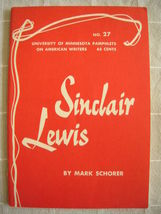 1963 Sinclair Lewis - Pamphlets on American Writers #27 Lit Criticism - $19.99