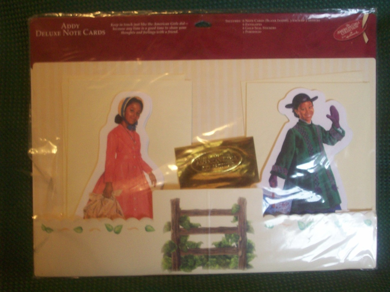 MIP American Girls Collection Hallmark Addy Figural Deluxe Notecard Set Retired