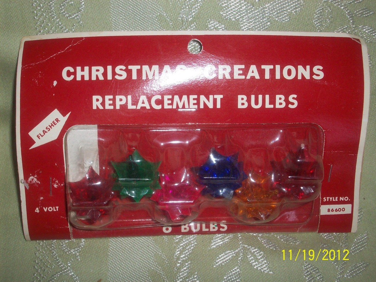MOC Vintage Christmas Star Creations Replacement Bulbs on Card