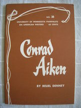1964 Conrad Aiken - Pamphlets on American Writers #38 Lit Criticism Poetry - $19.99
