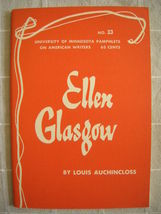 1964 Ellen Glasgow - Pamphlets on American Writers #33 Lit Criticism - $19.99