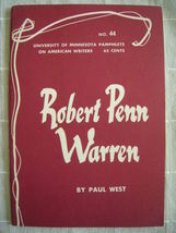 1964 Robert Penn Warren - Pamphlets on American Writers #44 Lit Criticism - $19.99